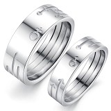 TITANIUM RING Cincin Couple Size 7(F) & 7(M) [GS297] - White - Cincin